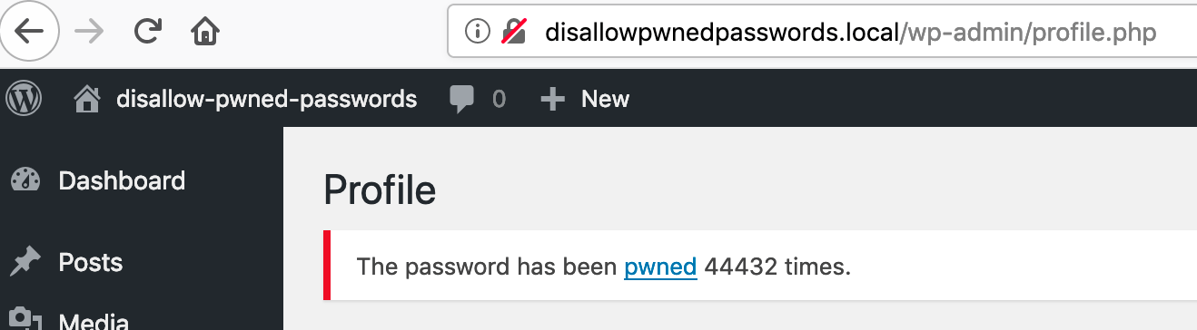 Disallow Pwned Passwords - WordPress Core